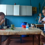 Karelia: breakfast in a dormitory