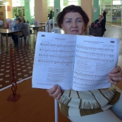 Komi, Syktyvkar: a pianist in railway station