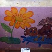Leningrad oblast: decorations in a corridor
