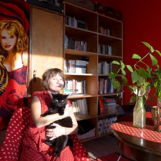 Self-portrait with 'cats'