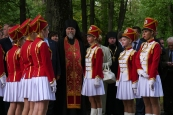 Pskov oblast: monument opening in Petchora