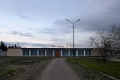 Pskov oblast: stadium building in Slantsy