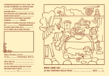 Children's' menu and illustration for Püssirohukelder (2005)