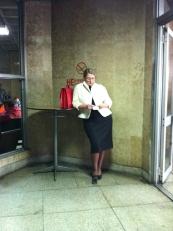 Siberia: lady in Abakan airport