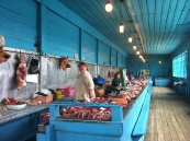 Siberia: old market in Minussinsk